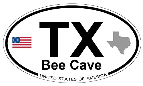 Bee Cave, Texas Oval Sticker - Texas Caves Bee