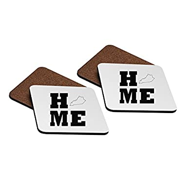 Home Kentucky 4''x4'' Hardboard Coasters - Set of 4