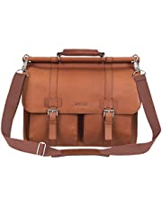 """Kenneth Cole Reaction """"Mind Your Own Business"""" Colombian Leather Double Compartment Dowel Rod Portfolio/Computer Case/ Fits Most 15.4"""" Laptops"""