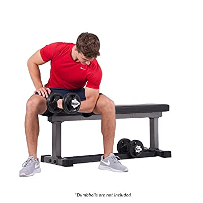 Body Power BUB850 1000 lbs Weight Bench with Built in Storage Rack for Dumbbells / Multi purpose Workout Bench Strength