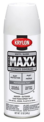 Krylon K09146007 COVERMAXX Spray Paint, Gloss White, 12 Ounce by Krylon