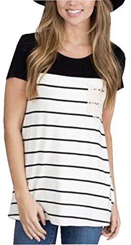 UGET Womens Striped Colorblock T shirt product image