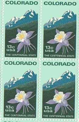 Amazon Colorado Set Of 4 X 13 Cent US Postage Stamps NEW Scot