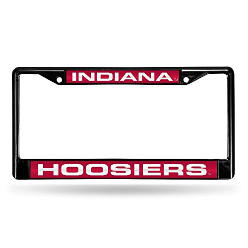 Rico Industries NCAA Indiana Hoosiers Laser Cut Inlaid Standard Chrome License Plate Frame, 6