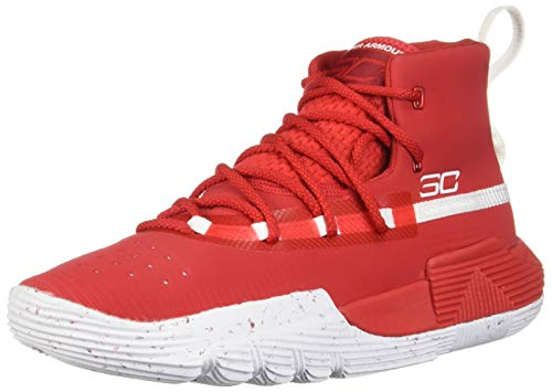 - Under Armour Boys' Grade School SC 3Zer0 II Basketball Shoe, Red (600)/White, 4.5
