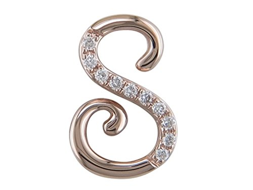 JMS Jewelry 18K Rose Gold Initial S