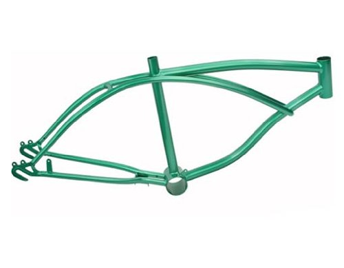 20' Lowrider Frame Metallic/Green. Bike frame, bicycle frame, lowrider bike frame, lowrider bicycle frame