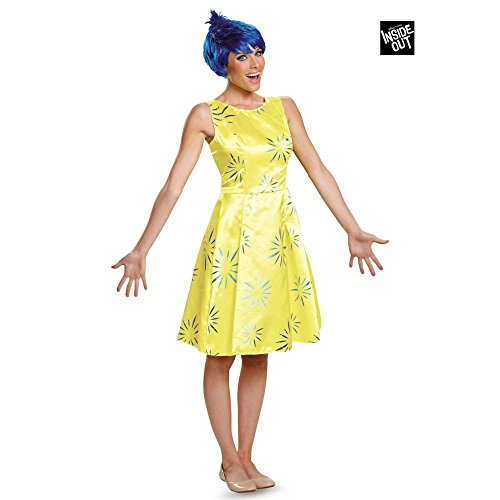 Disguise Women's Inside Out Joy Deluxe Costume, Yellow, Small ()