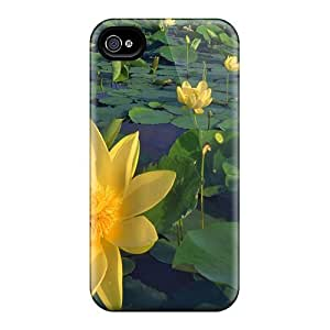 Fashionable Iphone 4/4s Case Cover For Yellow Waterlilies Protective Case