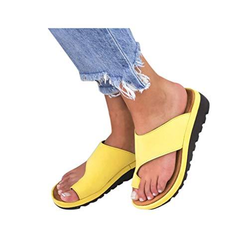 Dressin Women's Sandals 2019 New Women Comfy Platform Sandal Shoes Summer Beach Travel Shoes Fashion Sandal Ladies Shoes Yellow