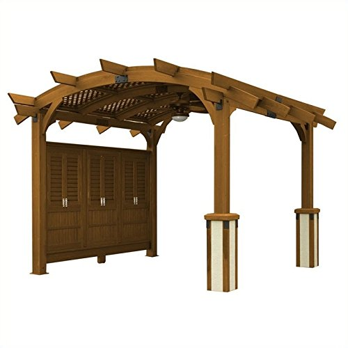 Sonoma 12 x 16 ft. Arched Wood Pergola - Redwood -  The Outdoor Greatroom Company, SONOMA1216-R