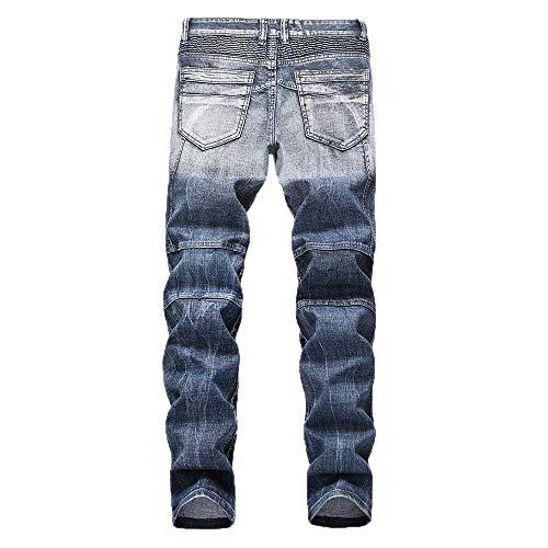 FELZ Tejanos Hombre, Vaqueros Skinny para Hombre, Pantalones Vaqueros Tallas Grandes, Tejanos Hombre, Pantalones para Hombre: Amazon.es: Ropa y accesorios