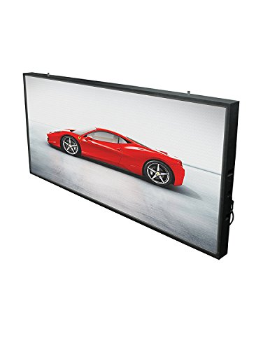 Olive LED Full Color Outdoor Sign Media Message Board Radiant P10 Programmable Board Great for images and logos (4.4 ft x 2.3 ft, P10 Full HD) (Electronic Billboard compare prices)