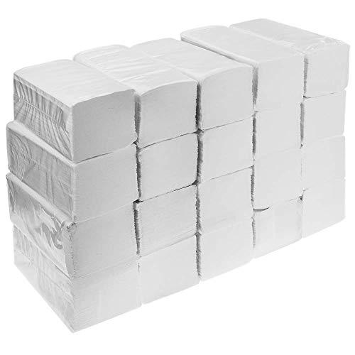 PrimeMatik – Dubbellaags V-gevouwen handdoekendoos van 4000 stuks