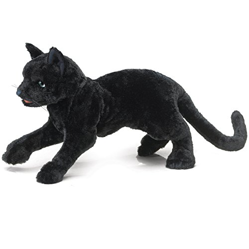 Folkmanis Black Cat Hand Puppet