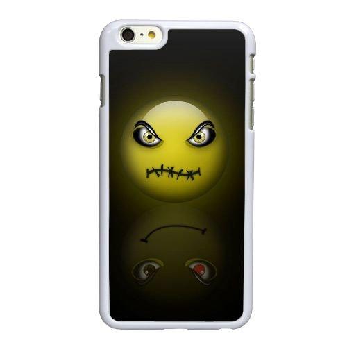 H9X54 Smiley face J2E4OE coque iPhone 6 4.7 pouces cas de téléphone portable couverture de coque blanche II0GFH8RI