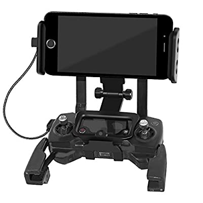 Anbee Foldable 4-10 Inch Phone / Tablet Extended Front Holder - Over Display Mount for DJI Mavic Pro & Spark Drone Remote Controller, Free Neck Strap