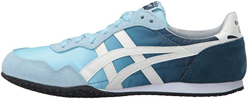 Crystal Sneaker Serrano slight Women's Onitsuka Asics White Blue Tiger qXwxBgCZ