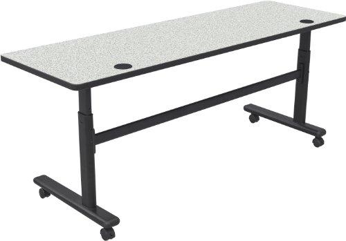 Balt Adjustable Height Flipper Table 72x24, Gray Nebula Top (90180-4622-BK)
