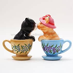 PG Trading 8773 3.5 in. Tea Cup Kittens Salt and Pepper Shakers