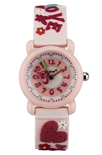 Cheamlion Kids Toddler Girls Cute Love Wrist Analog Quartz Elastic Jelly Watch by Cheamlion
