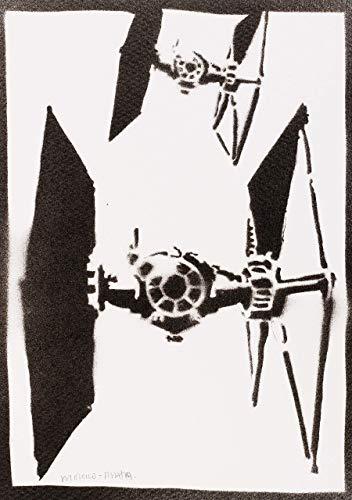 Poster Caza Estelar TIE/LN STAR WARS Grafiti Hecho A Mano ...