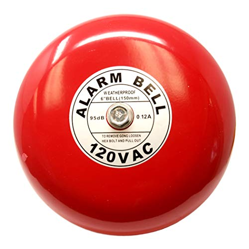 "Fire Alarm Bell, 6"", 120 VAC, Security Bell 120 Volt AC"