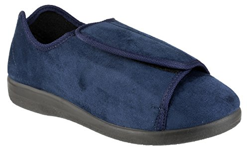Schuhe Slipper Navy Pantoffeln GBS Med Hausschuhe Klettverschluss Walton Damen Med vwapgq7