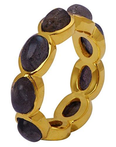 Banithani 925 argent sterling belle pierre labradorite femmes mode indien bijoux