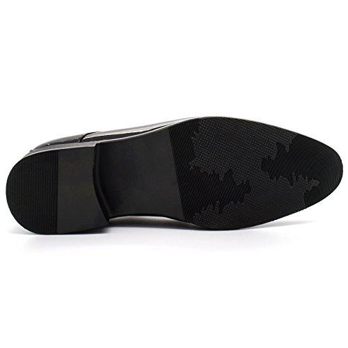 London Footwear - Sandalias con cuña hombre negro