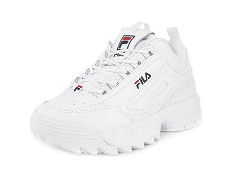 Zapatillas Deportivas para Mujer FILA Disruptor II Premium en Cuero Blanco 5FM00002-125