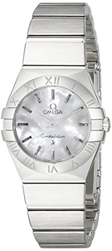 Omega Womens 12310246005001 Constellation Analog Display Swiss Quartz Silver Watch