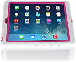 Hideaway Estuche reforzado para iPad Air, con soporte, color blanco y rosado