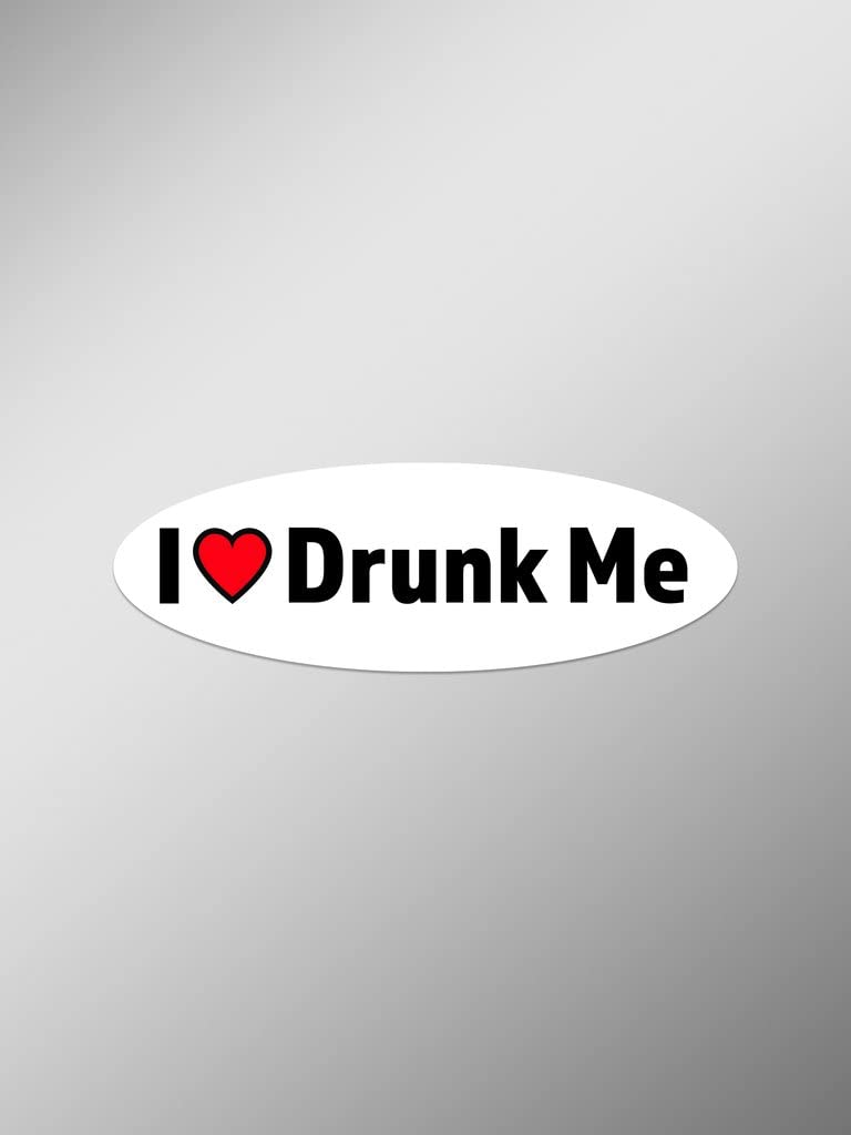 I Love Drunk Me Vinyl Decals Stickers (Two Pack) | Cars Trucks Vans Windows Walls Laptop Cups | Printed | 2-5.5 Inch Decals | KCD1356