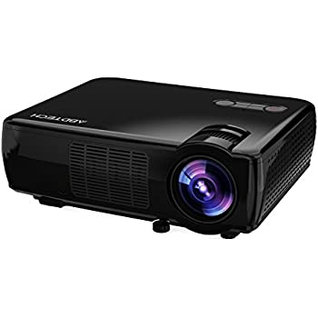 "Abdtech LCD Portable Projector Home Theater With 2600 Luminous Efficiency Support HD 1080P Video-Max 200"" Screen With Optical Keystone USB/AV/HDMI/VGA Interface-Ideal for Video Games,Movie Night"