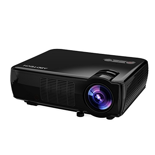 Abdtech 2600 lumens lcd portable projector home theater for Highest lumen pocket projector