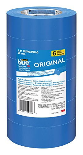 ScotchBlue Painter's Tape, Multi-Use, 1.41-Inch by 60-Yard, 6-Roll