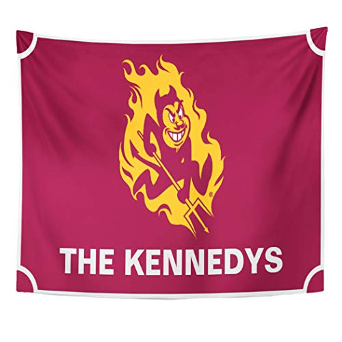 Semtomn Tapestry Artwork Wall Hanging ASU Arizona State Sparky University Sun Devils 60x80 Inches Tapestries Mattress Tablecloth Curtain Home Decor Print ()