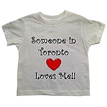 SOMEONE IN TORONTO LOVES ME - TORONTO TODDLER - City-series - White Toddler T-shirt