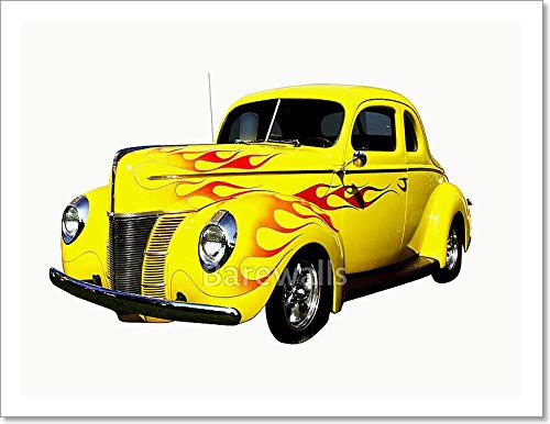 (Barewalls Flamed Hot Rod Paper Print Wall Art (10in. x 13in.) )