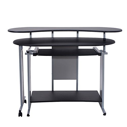 Expandable L-Shaped Computer Desk PC Table Corner Workstation Home Office