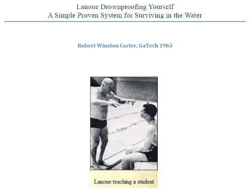 Lanoue Drownproofing Yourself - A Simple Proven System for Surviving in the Water