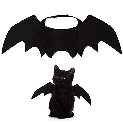 SSTQSAA Animal Pet Dog Cat Bat Vampire-Halloween Fancy Dress Costume Outfit-Wings