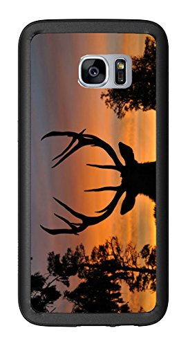 Sunset Deer Silhouette For Samsung Galaxy S7 Edge G935 Case Cover by Atomic Market