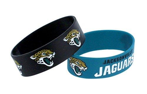 Jacksonville Jaguars NFL Rubber Silicone Bracelet Wristband 2-Pack (Licensed Wristband Bracelet)