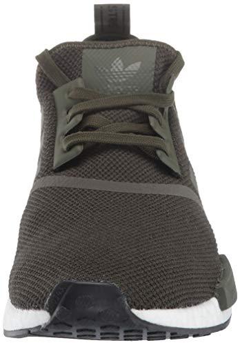 adidas Originals Men's NMD_R1 Running Shoe, Night Cargo/Black, 4 M US by adidas Originals (Image #4)