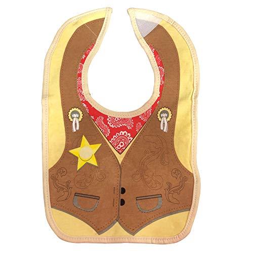 Embelle Baby Infant Boy Cowboy Vest Cotton Knit Bib Western Brown