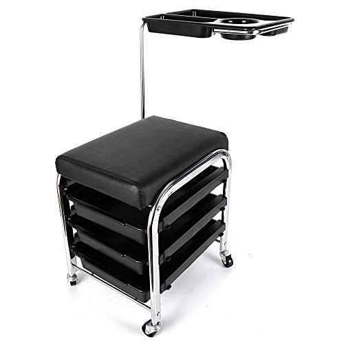 Portable Manicure Nail Table Station Desk Pedicure Beauty SPA Salon Equipment Adjustable Service Tattoo Hairdressing Storage Tray (US Stock)