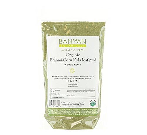 - Banyan Botanicals Brahmi/Gotu Kola Powder, 1/2 Pound - USDA Organic - Centella asiatica - Ayurvedic Herb for the Brain & Nervous System
