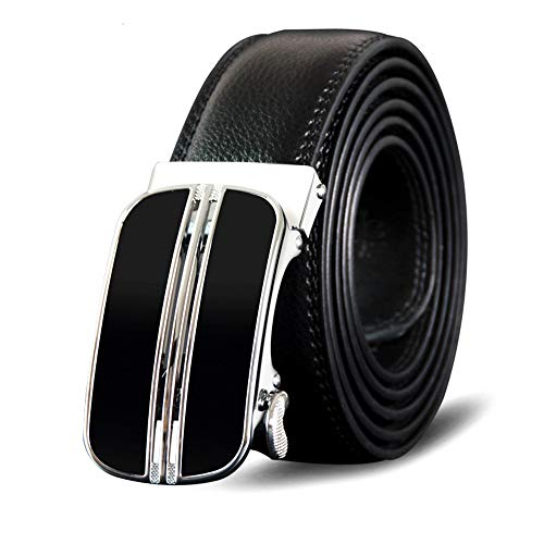 Fashion Cintura pelle fibbia cintura Lllm uomo Cinture Business metallo automatica in per 115cm in maschile 110Cm q5aOYpw